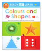 Ready Set Learn COLOURS AND SHAPES Wipe Clean Book