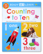 Ready Set Learn COUNTING TO TEN Wipe Clean Book