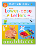 Ready Set Learn WRITE LOWERCASE LETTERS Wipe Clean Book