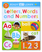 Ready Set Learn LETTERS, WORDS AND NUMBERS Wipe Clean Book