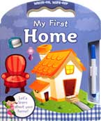 My First Home Write and Wipe Carry-Along Board Book with marker