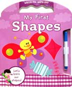 My First Shapes Write and Wipe Carry-Along Board Book with marker