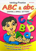 Writing Practice ABC & abc (Capital & Small Letters) - Trace, Write, Count, Colour