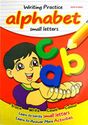Writing Practice Alphabet Small Letters - Trace, Write, Count, Colour